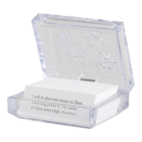 Dayspring Inspirational Promise Box – God's Gifts, Clear (T9652), 3 1/2″ x 2 3/4″ x 2 3/4″