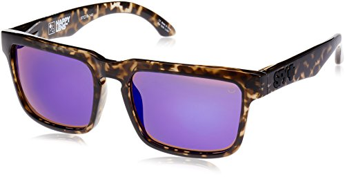 Spy Optic Helm Flat Sunglasses, Smoke Tort/Happy Bronze/Purple Spectra, 57 - Spectra Sunglasses