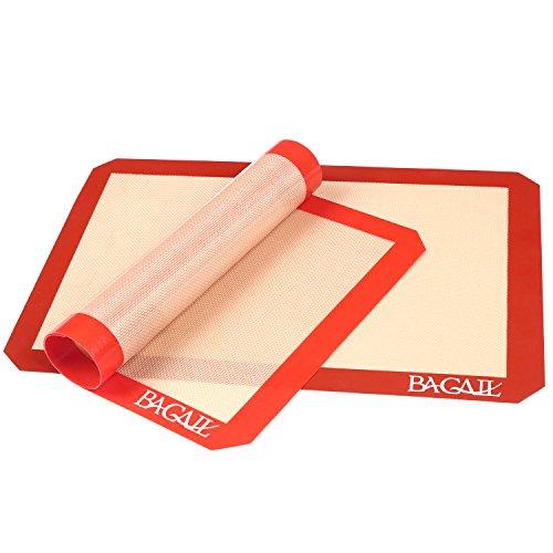 Liner Sheet Pan (2 Set Silicone Baking Mat - Thick Half Sheet Liners(11 5/8