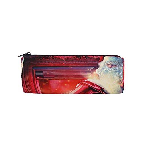 Winter Urlaub chriestmas Santa Claus Federmäppchen Stift Tasche Multifunktionale Stationery Tasche Reißverschluss Tasche von bennigiry, Student Reißverschluss Bleistift Inhaber Tasche Geschenk Travel