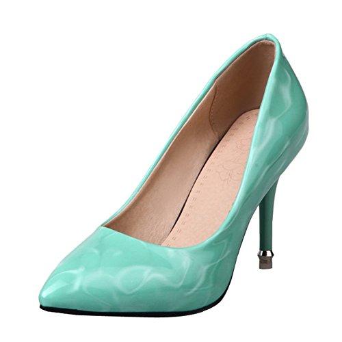 Mee Shoes Damen high heels Shallow Mund einfach Pumps Grün