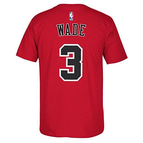 Chicago Bulls de la NBA Dwyane Wade rojo nombre y número camiseta, hombre, rojo: Amazon.es: Deportes y aire libre