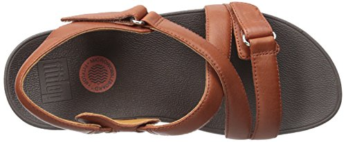 Fitflop The Skinny Sandal, Sandalias Mujer Marrón (Dark Tan)