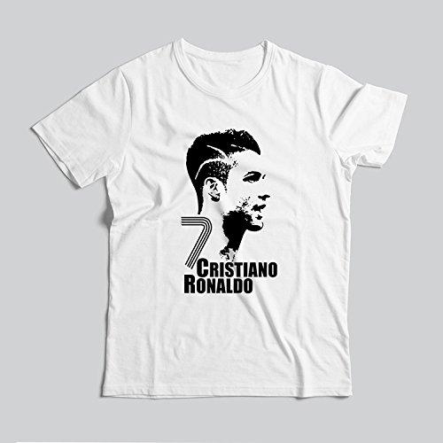 shirt Star Manica A Da Corta Ronaldo Club Donna C Bianca T Weii Juventus fBOwaOp
