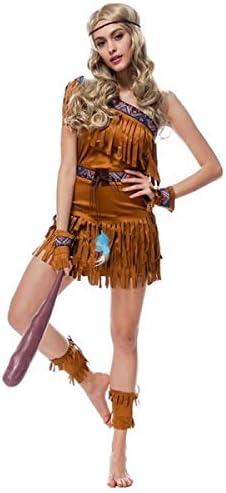 Disfraz de india nativa americana para mujer, tallas 36 a 42 ...