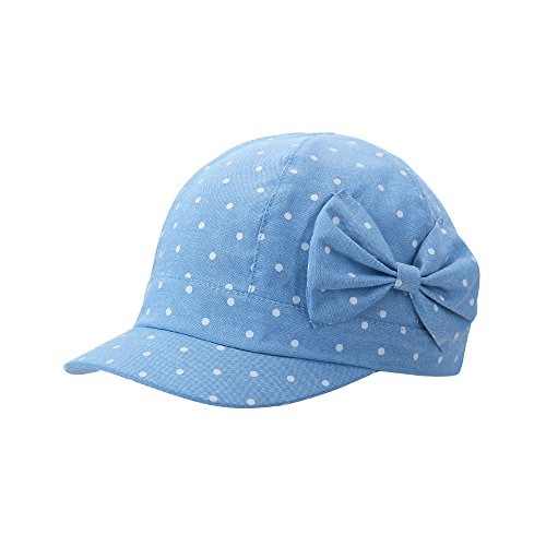 Vivobiniya Baby Girl Sun Hats Toddler Girl Bowknot Beret cap Cowboy cotton (50CM(Head circumference19.6IN))