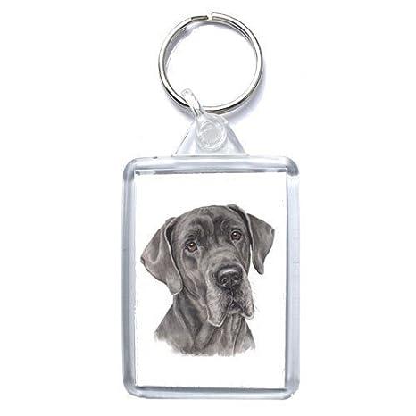 Amazon.com: Gran danés perro llavero – fabricado en Reino ...