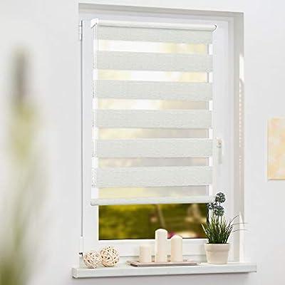 cortina veneciana sin Modelismo Con La Protecci/ón De La Privacidad tela OUBO cortina plisado Klemmfix montaje sin tornillos Soportes a abrazadera para la ventana