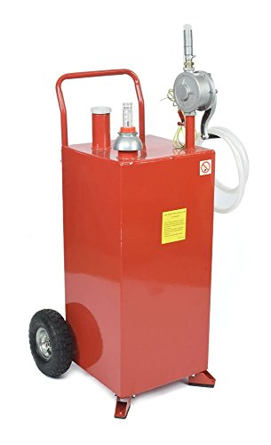 PRO 30 Gallon Gas Fuel Diesel Caddy Transfer Tank Container w/ Rotary Pump Tool by Unknown