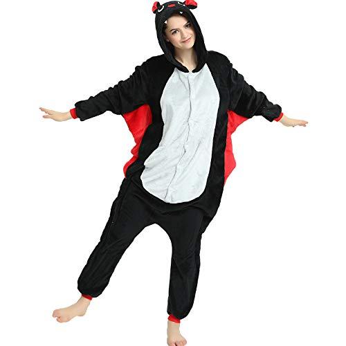 Indiefit Adult Onesie Pyjamas Flannel Cosplay Costume Sleepwear Nightgown (S, Bat)]()