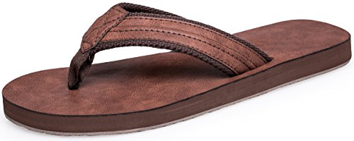 Boloren Men's Flip Flops Beach Sandals Classical Slippers
