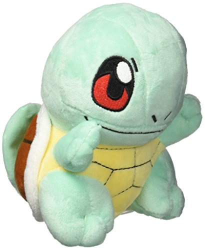 Pokemon Squirtle Rare Soft Plush, 6.5