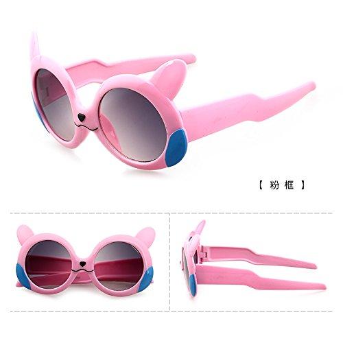 les lunettes lunettes de soleil des filles des garçons des lunettes de soleil les lunettes de coréenne anti - uv bébé des lunettes de soleil la marée de protection solaire poudrier (sac)