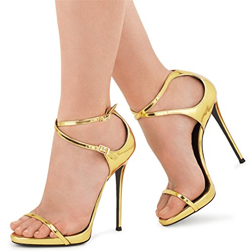 Heels Satinado Party High Mujeres Lucky Sandalias Toe Peep Nupcial Bombas a Court eu39 Shoes Max Rhinestones Eu46 Slotted Clover gold rOqWcYqP