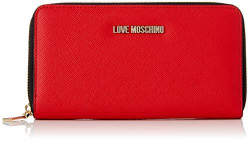 Love Moschino Portafogli Pu, Women's Wallet, Red (Rosso), 3x11x20 cm (W x H L) ()