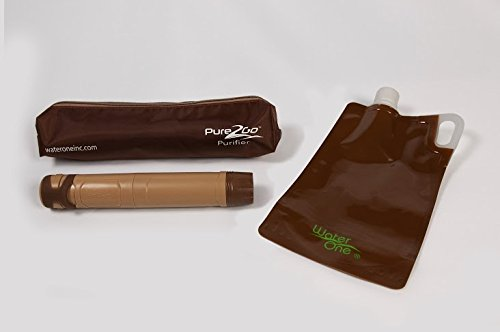 Pure2Go Personal Water Purifier Travelers Kit, Kills Virus and Bacteria,Superior to Filter or Straw