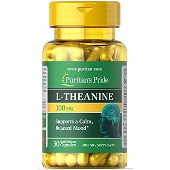 Puritan's Pride L-Theanine 200 mg per serving-30 Capsules