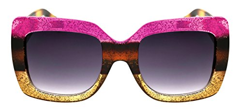 Edge-I-Wear Round Oval Square Women Sunglasses Multi Tinted Glitter Frame - Sunglasses Face Best Long For Oval