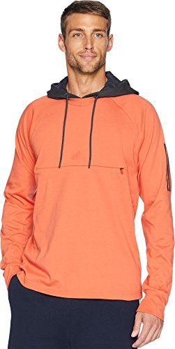 Carbon Lifestyle (adidas Men's Sport 2 Street Lifestyle Pullover Hoodie Raw Amber/Carbon Medium)