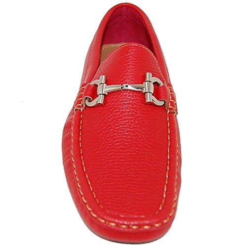 Schoenartiesten Mooie Roodgloeiende Mens Slip Op Schoen