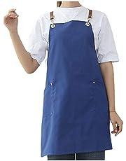 Schorten voor vrouwen Baker Ober Wasbaar Schort voor Volwassenen met Zakken 35% Polyester en 65% Katoen