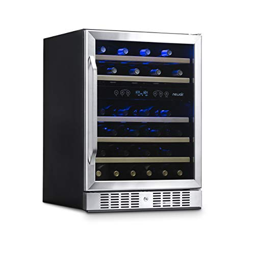 NewAir Built-In Wine Cooler and Refrigerator, Dual Zone 46 Bottle Capcity Fridge...