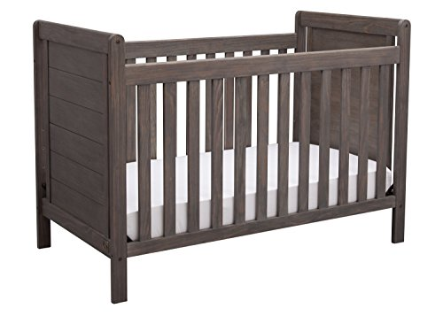 Serta Cali 4-in-1 Convertible Baby Crib, Rustic Grey