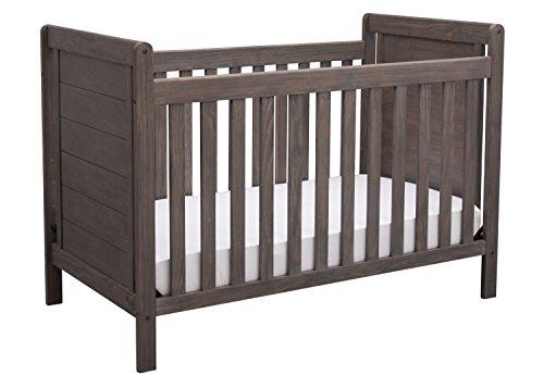 (Serta Cali 4-in-1 Convertible Baby Crib, Rustic Grey)