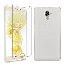 """BLU LIFE ONE X2 MINI Case + Screen Protector, Gzerma Soft Shock-Absorbing TPU Durable Protection Ultra Slim Fit Back Cover and Shatter-proof Protective Film for BLU LIFE ONE X 2 MINI 5.0"""" Unlocked Smartphone 4G LTE (White)"""
