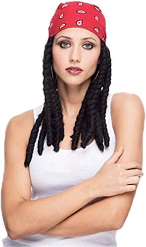 Paper Magic Dreads Bandana Wig Dreadlock Costume Braids Rasta Biker Jamaican Thug Accessory