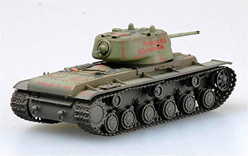 (Easy Model WWII Russian KV-1 Heavy Tank Eastern Front 1942 1/72 Plastic Non diecast)