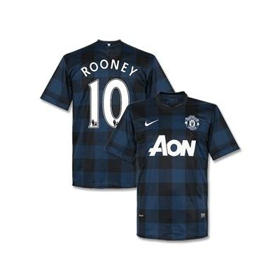 Manchester United away jersey 2013 2014 with official names (L, Rooney 10)
