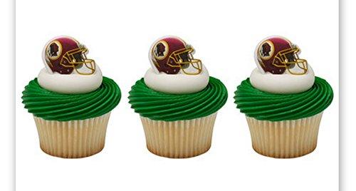 (24 ~ NFL Washington Redskins Helmet Rings ~ Designer Cake/Cupcake Topper)