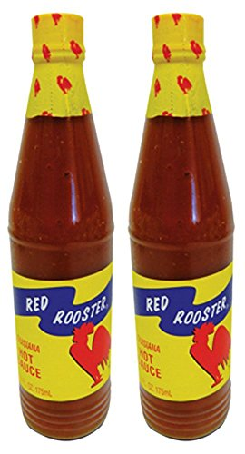 Red Rooster Louisiana Hot Sauce 6 Fl. Oz. (175ml) - Pack of 2 (Sauce Rooster Hot)