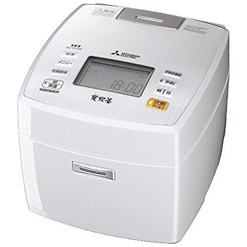 三菱電機 IHジャー炊飯器 備長炭炭炊釜 5.5合炊き ピュアホワイト NJ-VV106-W B00YPB07IA5.5合