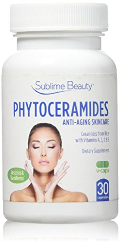 Phytoceramides from Sublime Beauty. 30 V-Cap Anti Aging Supplement. (1 BOTTLE)