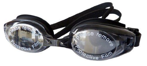 Swimming Goggles Black Adult Glasses Anti-Fog Lens Comfort Fit and UV protection (Black)