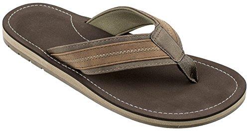 Dockers Men's Austin Premium Casual Sandal Flip Flop, Brown, 9 M US