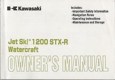 - 2002 KAWASAKI JET SKI 1200 STX-R WATERCRAFT OWNER MANUAL
