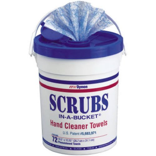 (Dymon 42272 Scrubs In A Bucket Hand Cleaner Towels 72 Count)