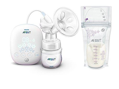 Philips Avent SCF301/02 – Sacaleches Confortable, extractor de leche eléctrico + Philips Avent SCF603/25 bolsas para…