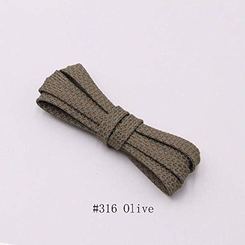 XJYWJ 靴紐のランナーは靴を実行するためのベルトスポーツの安全靴ひも靴ひもを織り (Color : 316 Olive 3M, Size : 160cm)