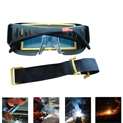 SAQIMA Mask Helmet Eyes Goggle Solar Powered Auto Darkening Welder Welding Glasses Eye Full Cover Protector ()