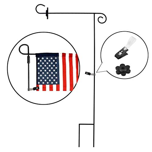SPORT BEATS Garden Flag Stand Pole Holder with Garden Flag Stopper and Anti-Wind Clip 36.6