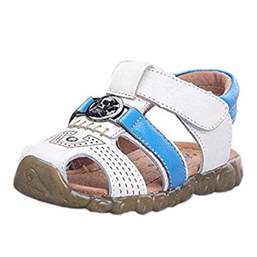 Ohmais Kinder Baby Jungen Baby Kleinkind Schuh Leder weich Weiß