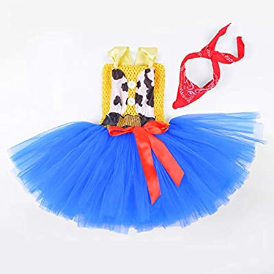 Cowgirl Tutu Dress Woody Costume Pageant Birthday Christmas Holiday Party Toddler Girl Outfit: Clothing
