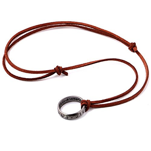 Price comparison product image Magily Uncharted 4 Nathan Drake's Ring Unisex Pendant Cord Chain Necklace