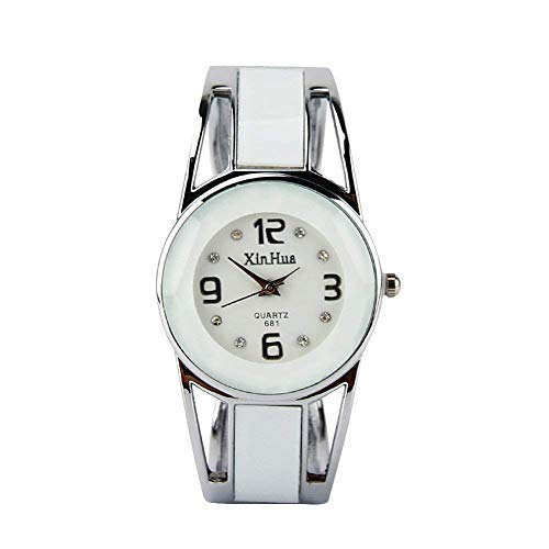 Women's Ladies Bangle Watch Hollow Bracelet Wrist Watches Quartz Watch with Rhinestone Round Dial Stainless Steel Band Wristwatch with Gift Packaging (#4) (Best Cyber Monday Deals On Fitness Trackers)