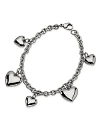ICE CARATS Stainless Steel Hearts 8 Inch Bracelet/Love Fashion Jewelry Ideal Gifts for Women Gift Set from Heart