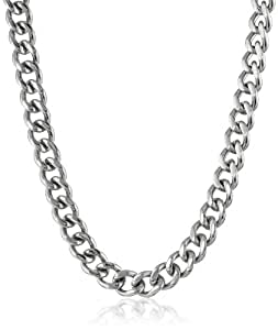 """Men's Stainless Steel Curb Chain Necklace, 20"""""""